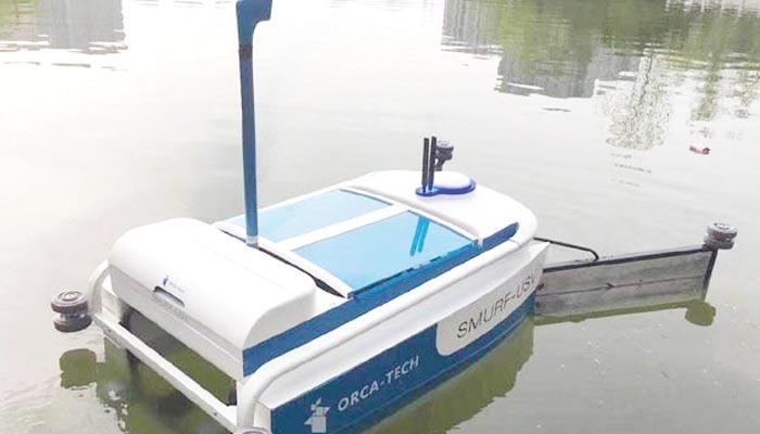 پانی سے کچرا صاف کرنے والا روبوٹ تیار