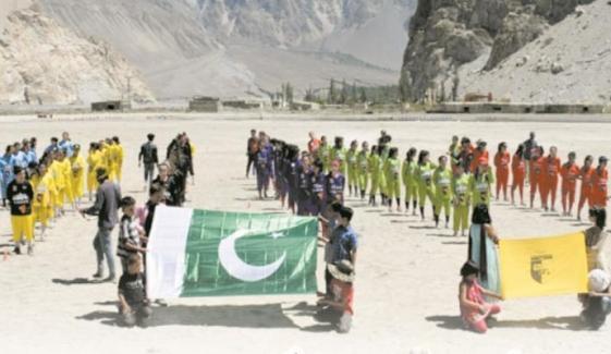 Girls Football League In Gilgit Baltistan