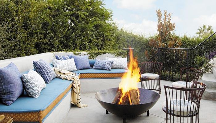 گھر کے بیرونی حصے میں آتش دان بنائیں