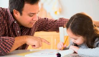 Parents Help Children In Homework