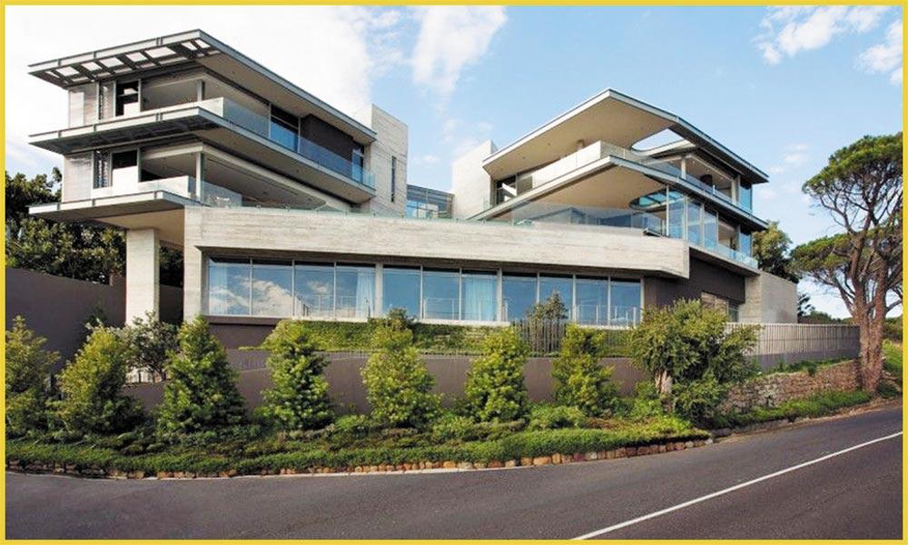 خوبصورت تعمیراتی ڈیزائن پر مبنی مکانات