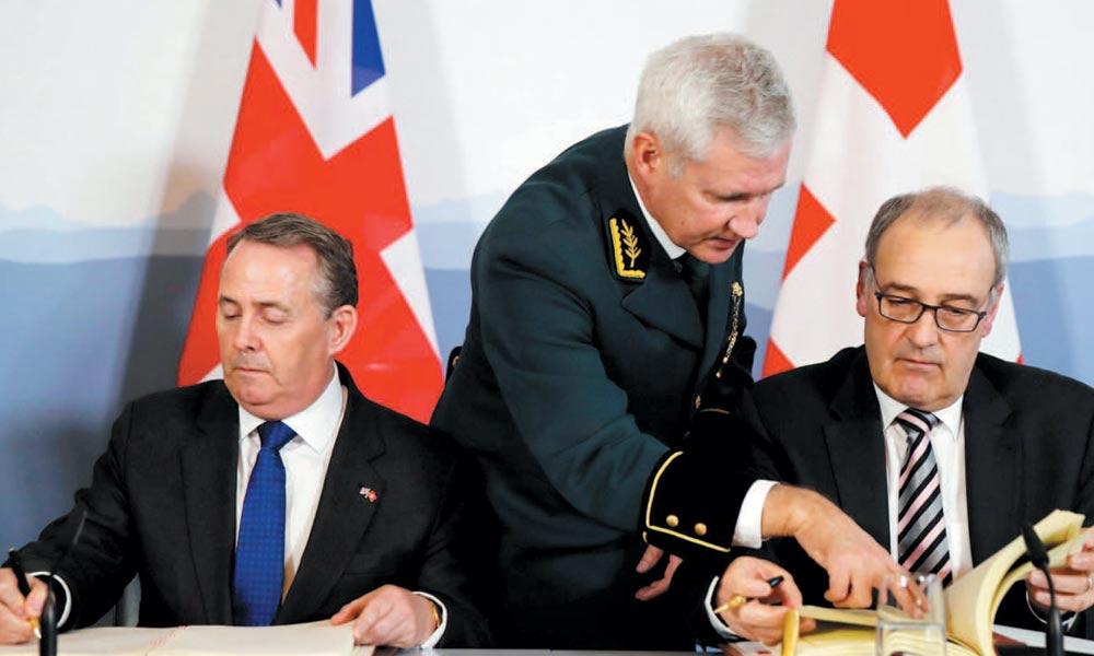 بریگزٹ پر رائے شماری کے بعد پہلی بار برطانیہ اور سوئزلینڈ کے مابین بڑے تجارتی معاہدوں پر دستخط
