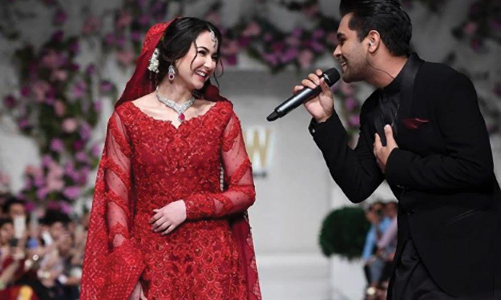 عاصم اظہر نے ریمپ پر ہانیہ عامر کے لئے گانا گایا