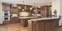 Walnut Wood Floor And Cabinet