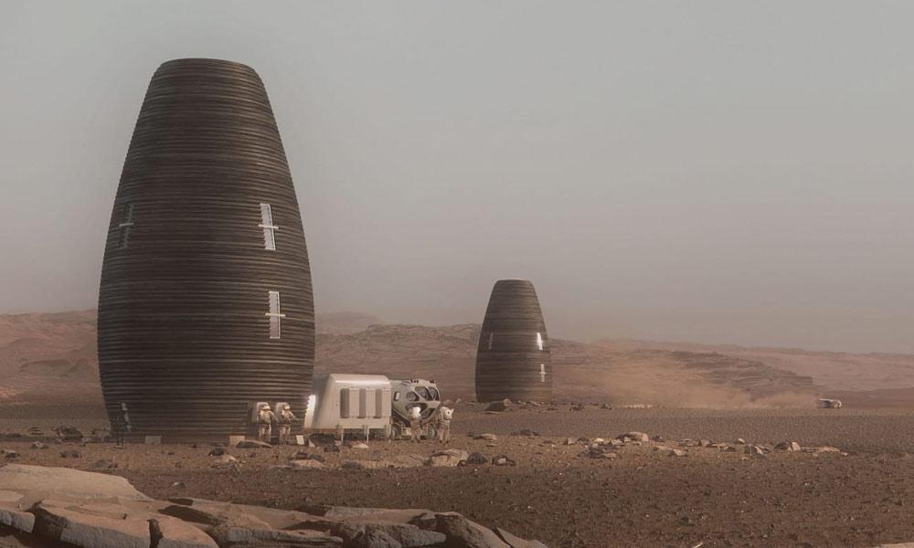 مریخ پر رہائش کیلئے 3D پرنٹڈ ہومز