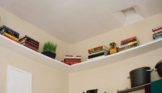 Storage Shelves On Wall
