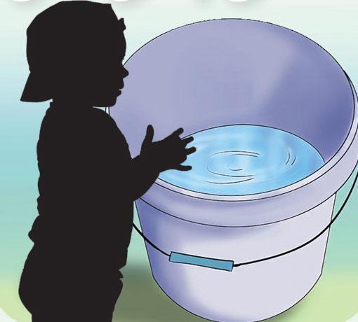 آدھی بالٹی پانی