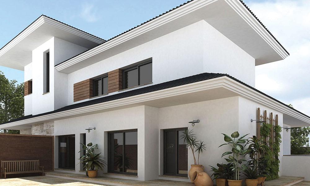 گھر کے بیرونی حصے کو سفید رنگ سے روشن بنائیں
