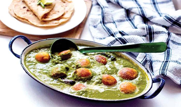 ہرے پتوں والی سبزی... پالک