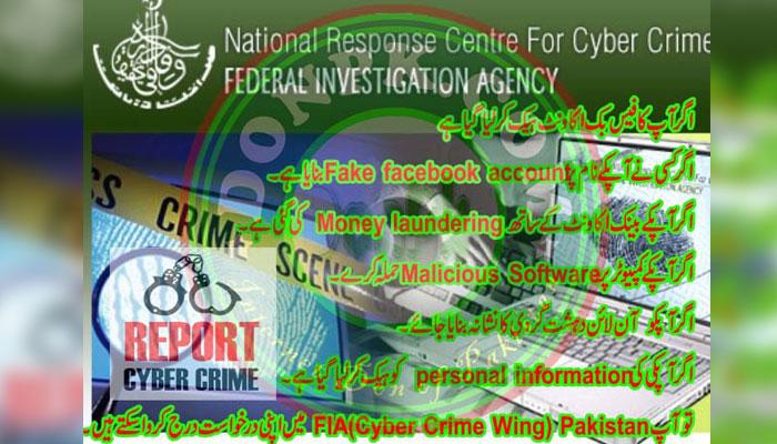 ایف آئی اے جعلی سائبر کرائم سیل