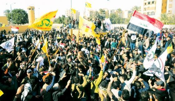 Iraqi People Protest Against Us