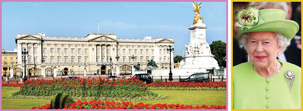 ملکہ برطانیہ کے شاہی محلات
