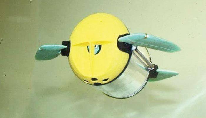 مچھلیوں کے فارم کے لیے ''روبوٹ کچھوا ''