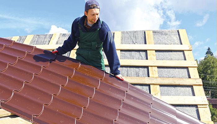 چھت کی تعمیر میں دھات کا استعمال