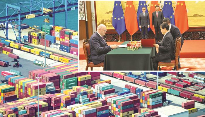 یورپی یونین اور چین کے مابین سرمایہ کاری کا معاہدہ