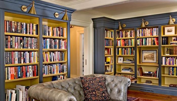 گھر میں موضوعاتی لائبریری بنانا