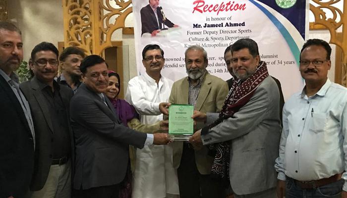 جمیل احمد کے اعزاز میں بلدیہ کی تقریب