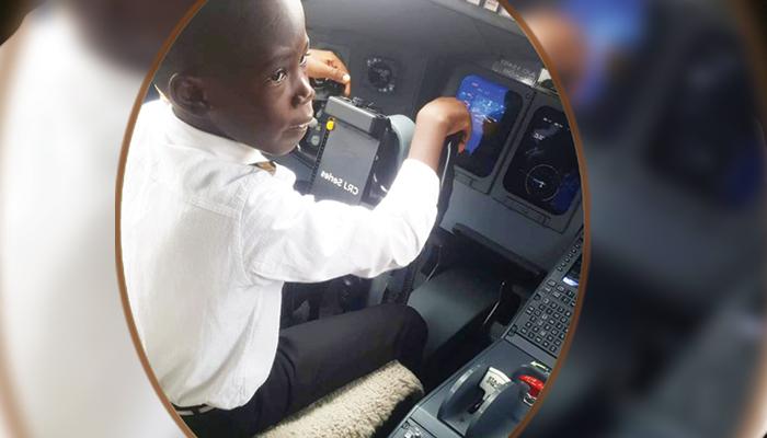 سات سالہ پائلٹ خلانورد بننا چاہتا ہے