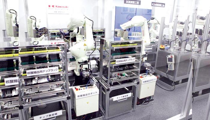 80 منٹ میں کورونا ٹیسٹ کرنے والے روبوٹ تیار