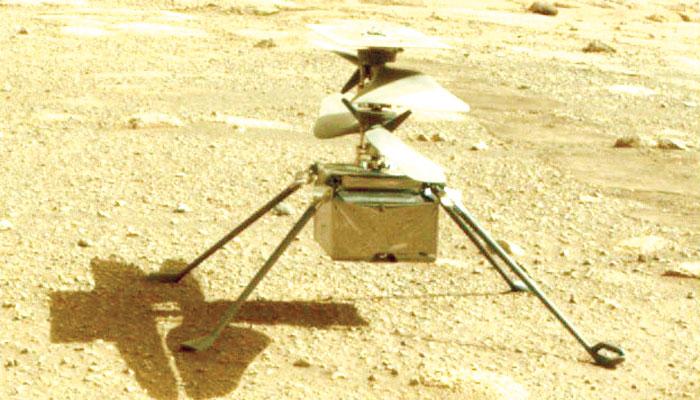 ناسا کا ہیلی کاپٹر، مریخ پر اُڑان بھرنے کو تیار!