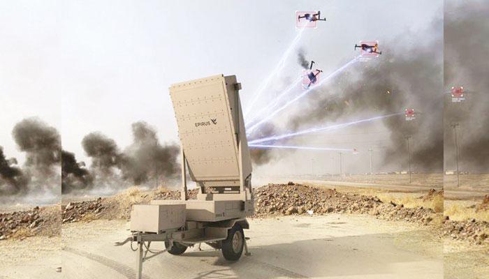 حملہ آور ڈرونز کے ٹکڑے کرنے والا مائیکروویو ہتھیار