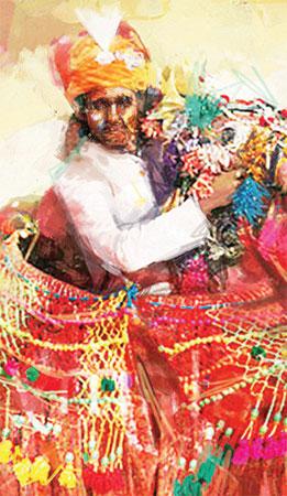 روایتی لباس کے ساتھ زبان و ادب