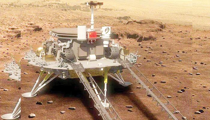 ' 'ژورونگ روور''  مریخ پر پانی اور زندگی تلاش کرنے کے لیے تیار