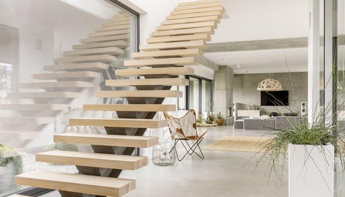 گھر کی سیڑھیوں کے لئے منفرد آئیڈیاز