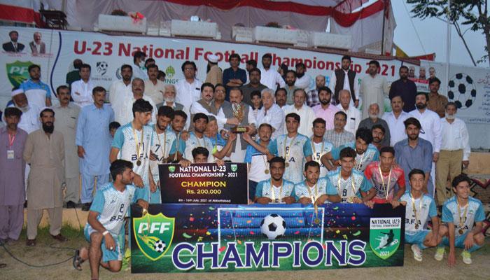 قومی انڈر 23    فٹبال ، اعزاز بلوچستان کے نام