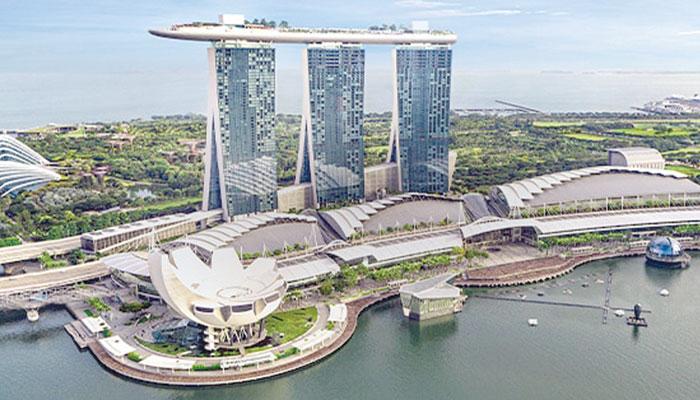 مرینا بے سینڈز... سنگاپور کی شاہکار عمارت