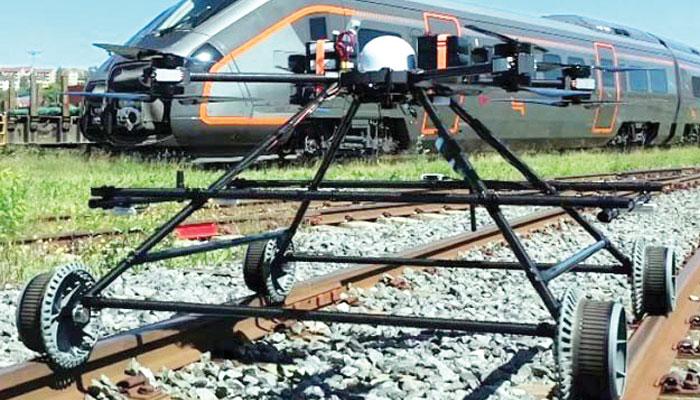 ریل کی پٹڑیوں کا معائنہ کرنے والا ڈرون