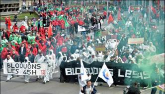 Belgium Trade Union Workers Protest Many Arrested