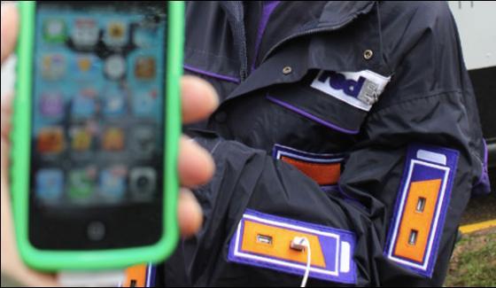 Smartphone Charging Jacket