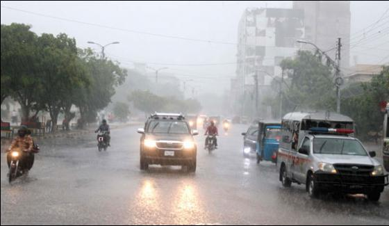 Rain In Karachi Electricity Short Billboard Fallen In Kala Pull