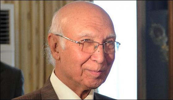 Pakistan Is Ready To Talks With India Sartaj Aziz