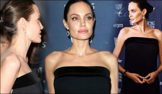 Hollywood Actress Angelina Left To Food And Drink