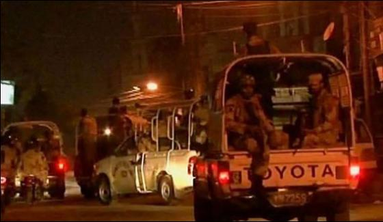 Rangers Search Operation In Fb Area Noth Nazimabad And