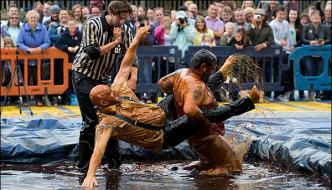 World Gravy Wrestling Championship Held In Lancashire