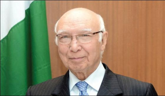 Pakistan Gets The Wrong Impression To Suffer Loneliness Sartaj Aziz