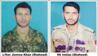 Martyred Army Personnels Picture Issued