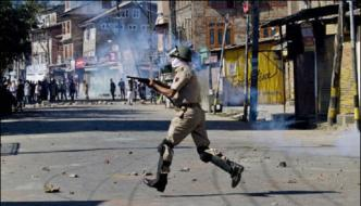 Srinagar The Indian Contingent In Red Square To Prevent Protests