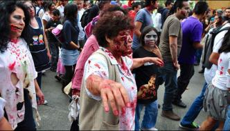 Ninth Annual Zombie Festival Held In Mexico City