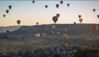 Turkey The Sky Was Filled With Colorful Balloons