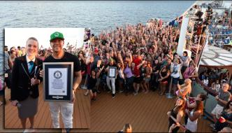 Donnie Wahlberg Breaks Guinness World Record For Most In Three Minutes