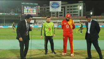 Lahore Qalandars Won The Toss And Elected To Field