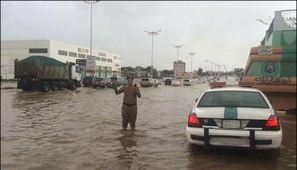 Rain Lashes Out Different Areas In Saudi Arabia Several Regions Submerged