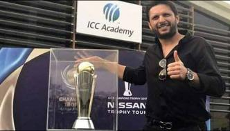 Shahid Khan Afridi Unveils Icc Champions Trophy In Dubai