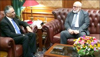 Chairman Pta Meets Sindh Governor
