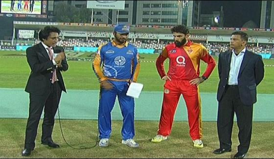 Psl Islamabad Won The Toss And Invited To Karachi For Batting
