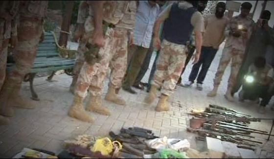 Karachi Rangers Raid In Safari Park A Large Number Of Weapons Recovered